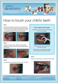 Easy guide to brush your child's teeth